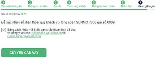 Hướng dẫn vay tiền SenMo thành công
